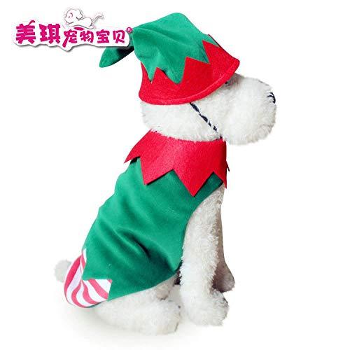 qiangdedianzishang Weihnachtsmannkostüm für Hunde und Katzen, für Halloween, Kürbis-Transformator, Schneeflocke, Elch