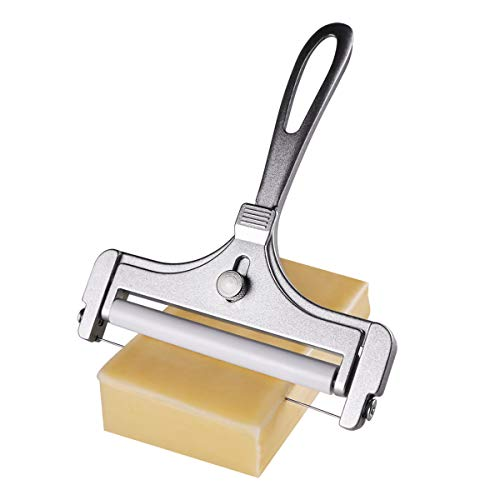Roponan Stainless Steel Wire Cheese Slicer, Thickness Adjustable Cheese Cutter for Kitchen Cooking