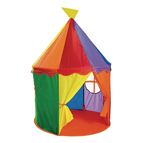 Excellerations CIRTNT Circus Tent - Toddler and Child Large Playhouse for Indoor and Outdoor Play and Games, 54'H x 40.5'Dia, Kids Toy