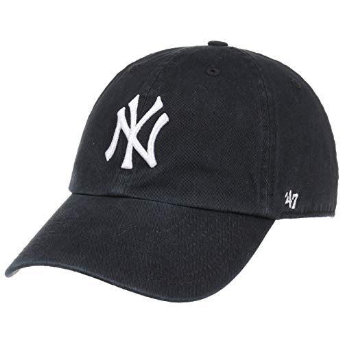 47 Brand Unisex Mlb New York Yankees 47 Brand Clean UP Cap, Black, One Size