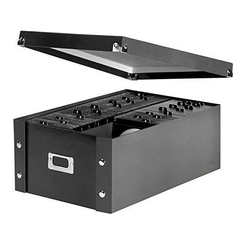 CD/DVD Storage Box, Holds 120 Slim/60 Std. Cases