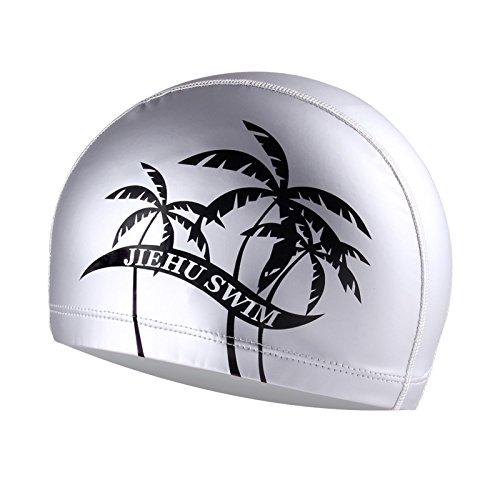 スイムキャップ 水泳帽子男性と女性ユニバーサル防水快適なタブ高弾性水泳帽子キャップ水泳帽子 (?)
