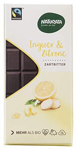 Naturata Bio Chocolat Halbbitter Ingwer-Zitrone (1 x 100 gr)