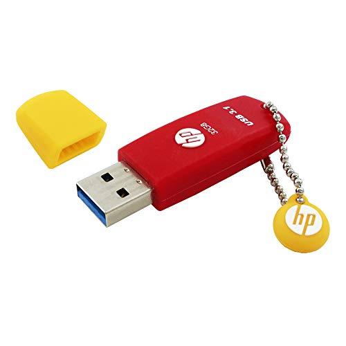 32GB USB 3.1 USB-Stick Gummi-Material Rot - HPFD788R-32P