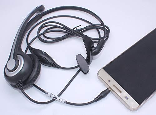 Wantek Headset Handy Mono mit Noise Cancelling Mikrofon, Smartphone Kopfhörer für iPhone Samsung Huawei HTC LG ZTE BlackBerry Android Mobiltelefon mit 3,5mm Klinkenstecker(F600J35)