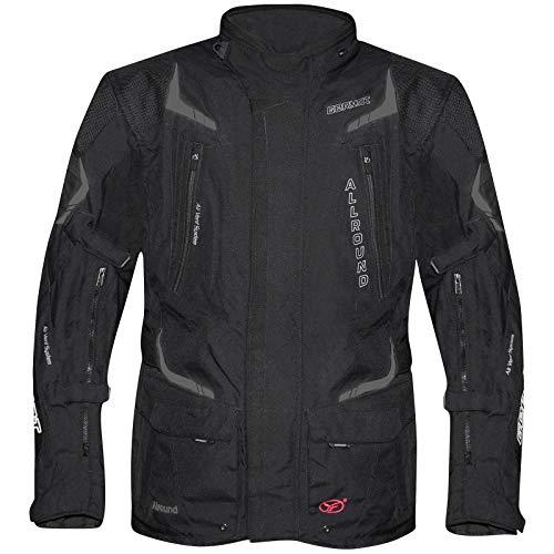 Germot Damen Motorrad-Textiljacke Allround, wind- und wasserdicht, schwarz, 50D