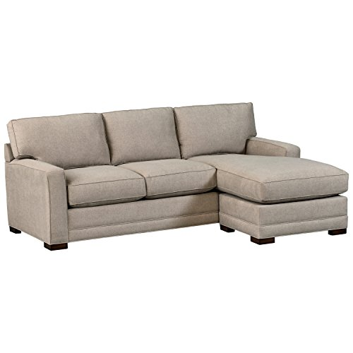 Amazon Brand – Stone & Beam Dalton Chaise Sectional Sofa Couch, 91.5', Stone