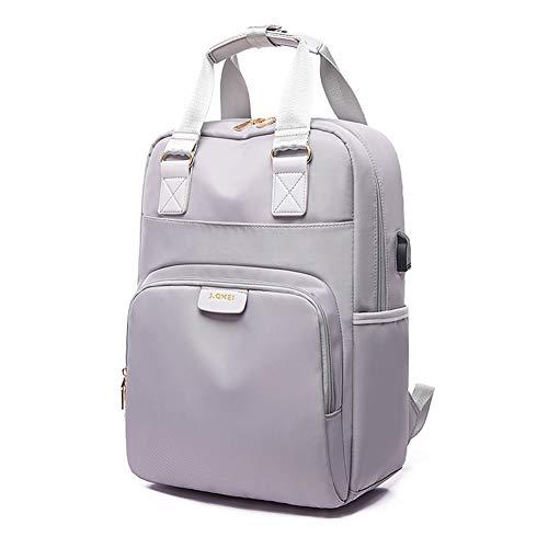 ANGGO - Zaino per laptop, grande capacità, da viaggio, per uomo e donna, Grigio (grigio), 15.6 inch