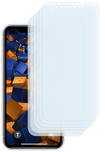 mumbi Schutzfolie kompatibel mit Apple iPhone XR Folie klar, Bildschirmschutzfolie (6x)