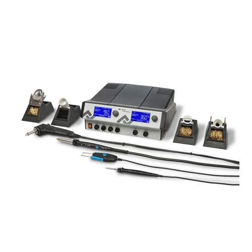 Ersa i-CON VARIO 4 Mehrkanal-Löt mit Entlötstation 500 W 230 V, i-Tool AIR S und Chip-Tool, antistatisch, 0ICV4000AIC