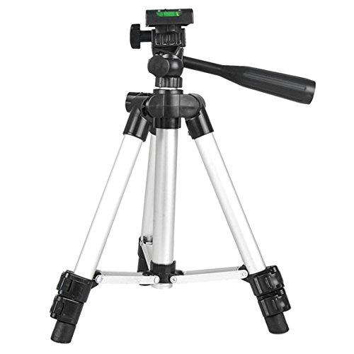 nbvmngjhjlkjlUK Stativ Universal Tragbare Digitalkamera Camcorder Stativ Ständer Leichtes Aluminium für Canon für Nikon für Sony (Silber)