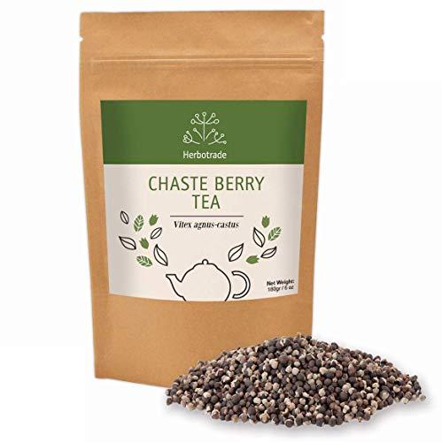 Chaste Tree Berry (Chasteberries) Vitex Agnus-Castus Whole Seeds Herbal Tea 6 oz / 180gr Wildcrafted Herbs