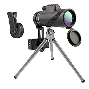 Monocular Telescope, 40x60 Dual Focus Optics Zoom Lens Monoculars Scope for Adults with Smartphone Adapter and Tripod - Waterproof Spotting Scopes for Adults Birdwatching Traveling Sightseeing Outdoor