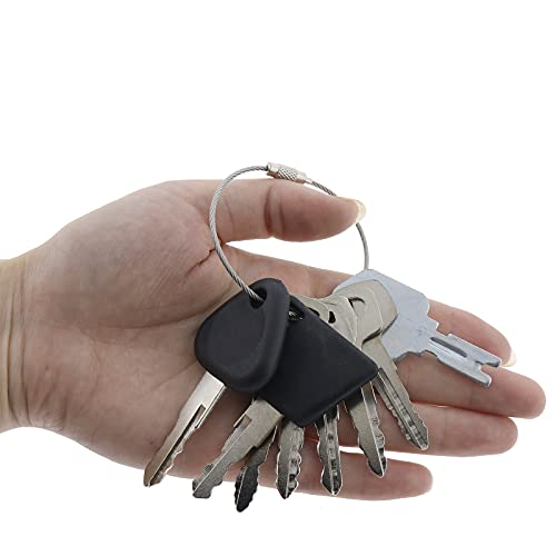 Solarhome 8 Keys Forklift Key Set for Yale Cat Clark Komatsu Toyota Doosan Nissan Hyster JCB