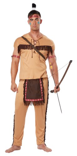 California Costumes Men's Native American Brave Adult, Tan/Brown, Large