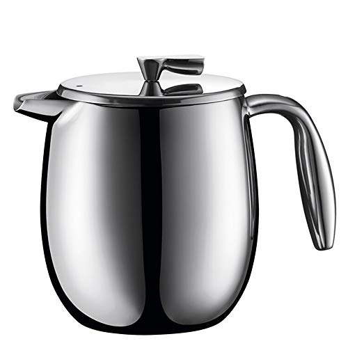 New French Press Coffee Maker French Pressure Pot Double-layer Stainless Steel Filter Coffee Pot Hea...