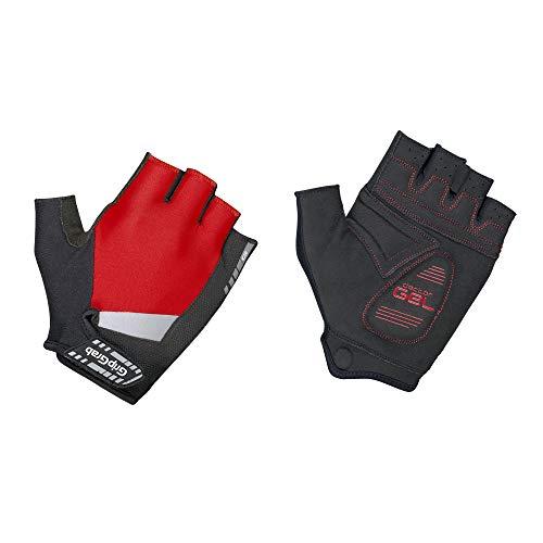 GripGrab SuperGel-Stark Gepolsterte Komfortable Kurzfinger Fahrrad-Handschuhe-Radsport, Rennrad, Damen, Herren Gloves Cycling Short, Red, L