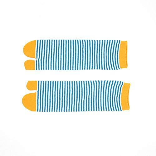 Compressie sokken Women'S 36-39 Women'S Size teen klompen dun katoen sokken 3 paar geel