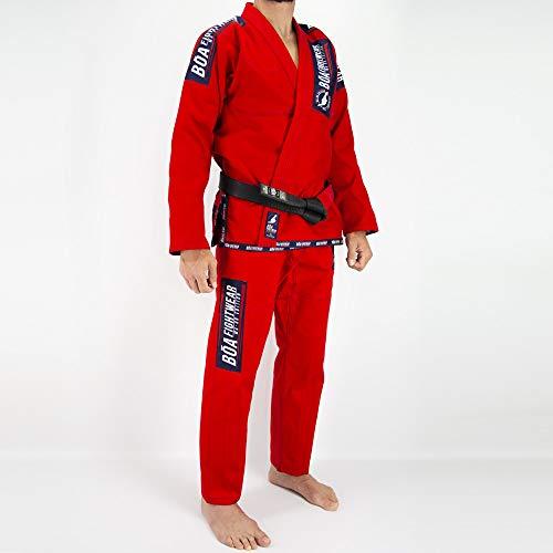 Bõa Ma-8r - Kimono de Jiu-Jitsu brasileño para Hombre, Hombre, Color Rojo, tamaño FR : XS (Taille Fabricant : A0)