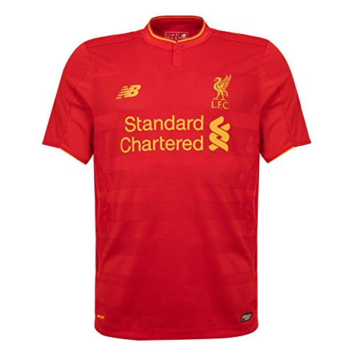 New Balance - Camiseta para Hombre Oficial del Liverpool FC 2018/19 Home SS, Hombre, Camiseta de fútbol, MT630001 HRDS, Rojo, S
