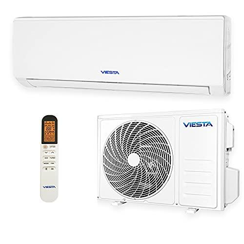 VIESTA 09SE Climatiseur Split Kit Climatisation, Climatiseur reversible Radiateur Climatiseur avec Titanium Gold, Télécommande et...