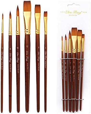 Max 56% OFF huanyudaeroy 6 Pcs Set Watercolor Artist Brush Super Special SALE held Paint Acrylic Oil