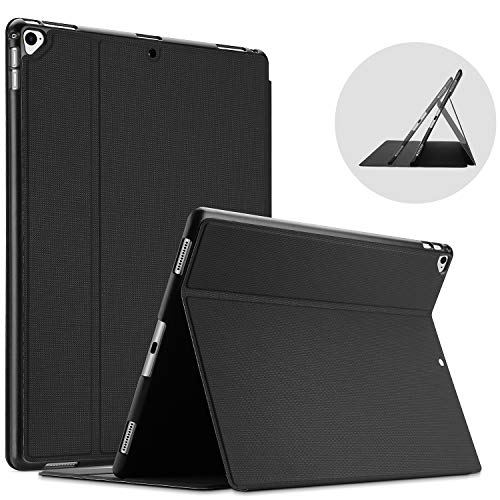 ProCase for iPad Pro 12.9 Inch 2017/2015 Case (Old Model, 1st and 2nd Generation), Ultra Slim Lightweight Stand Smart Protective Folio Cover -Black