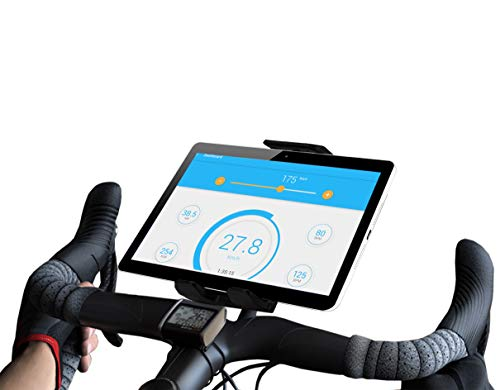 Bike tablet holder compatible with iPad exercise bike valid for all types of handlebars tablet holder for fitness bike tablet holder bike trainer spinning bike bicycle tablet holder cycle cycling