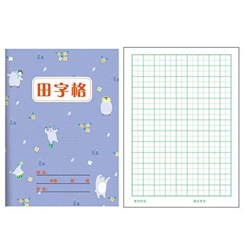 JONEKWYJ Quaderno Scrittura Cinese Libri Esercitarsi Pratica Cinesi Stampati Confezione Caratteri Da 10 Regalo Perfetto Per I Principianti Dell'apprendimento (Tian Zi Ge Ben,13*18cm)