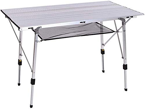 LRHYG Picnic Folding Table Lightweight Aluminum Folding Table With Adjustable Height With Bottom Storage Net Anti-rust And Scratch-proof