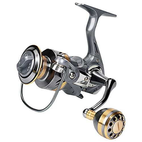 Spinning Reel, Lightweight Inshore Surf Fishing Reel, Heavy Duty Smooth Catfish Spinning Fishing Reel for Saltwater Freshwater Fishing Smooth Fishing Spinning Reel (7000)