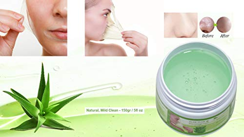 Blackhead Remover Maske, Mitesser Maske, Anti Aging Mask, Aloe Vera Gesichtsmaske, Peel Off Mask 150 gr | Natural & Mild | Premium Qualität | Aloe Plus von Secret Essentials