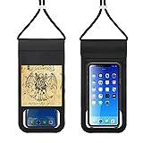 Paquete de teléfono móvil impermeable Bolsa seca del teléfono celular con cordón caso de teléfono al aire libre Natación bolsa de teléfono Cthulhu Vitruvian