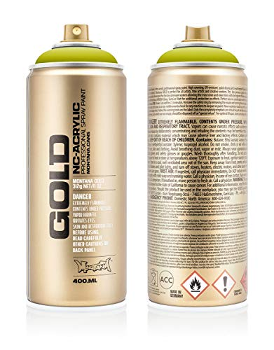 Montana Cans 284014 Montana Spray Dose Gold 400ml, Gld400-1130-Pepperoni Mild