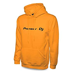 Pioneer DJ Pro Premium felpa con cappuccio CDJ XDJ Nexus 2 DDJ DJM DJM-900 XDJ XDJ-RR CDJ-2000 CDJ-2000NX2 mixer controllori Arancione L