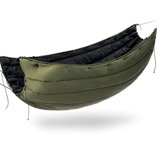onewind Underquilt Double Hammock Camping Insulation Night Protector, Full Length,35-50 Degrees, 4 Season Warm Sleeping Quilt, Portable for Backpacking, Travel