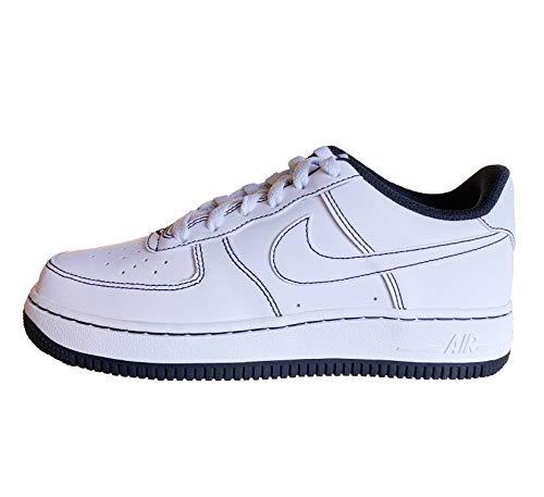 Nike AIR Force 1 (GS) Basketballschuh, Weiß und Schwarz, 40 EU