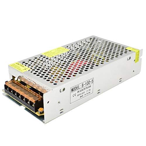 Baiyouli Fuente de Alimentación Conmutada AC 110/220V a DC 5V 20A 100W Transformador Convertidor para Pantalla LED