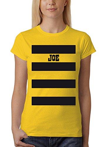 clothinx Damen T-Shirt Fit Lucky Luke Karneval Die Daltons Gruppen-Kostüm Gelb/Joe Größe S