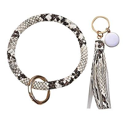 XLSTORE Fashion Leather Bracelet Tassel Round K...