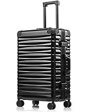 (P.I.)スーツケース 2019デザイン アルミフレーム TSAロック 人気 軽量 静音8輪 大型 大容量 ビジネス 出張 防塵カバー