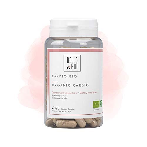 Belle&Bio - Cardio Bio - 120 gélules - Circulation - Certifié Bio par Ecocert - Aubépine Ail Olivier et Reine des prés - Fabriqué en France