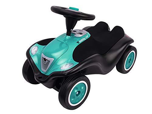 Big - Bobby Car Next - Deluxe Variante, Kinderfahrzeug mit LED-Front Scheinwerfer, Flüsterreifen und weichem Sitz, belastbar bis zu 50 kg, Rutschfahrzeug für Kinder ab 1 Jahr, Turquoise