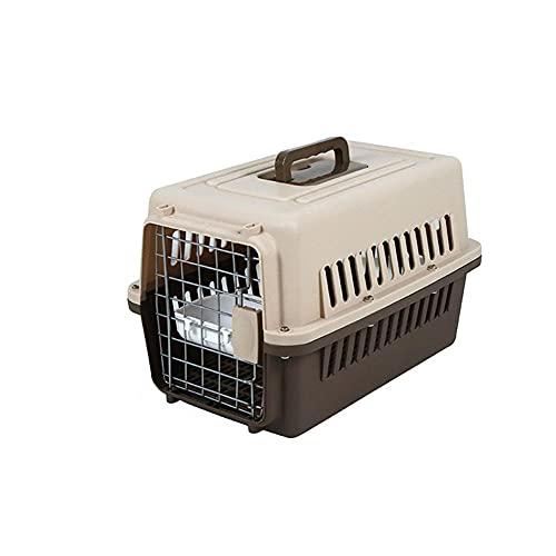LLLucky Trasportino Rigido per Animali, 2 sportelli Carica dall'Alto Gatti Portatili Trasporto Leggero Design Apertura Superiore Trasparente Cani -M.
