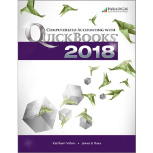 COMPUTERIZED ACCOUNTING WITH QUICKBOOKS 2018