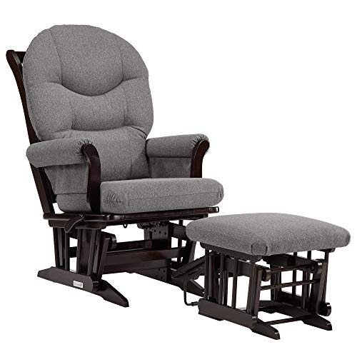 Dutailier Sleigh 0400 Glider Multiposition-Lock Recline with Nursing Ottoman Included