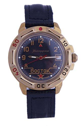 Vostok Ruso Comandante Militar KOMANDIRSKIE Reloj Golden Color Rojo Star 2414/439524