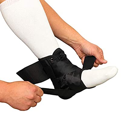 Lace Up Ankle Brace with Figure 8 Strapping - Compression Stabilizer Support & Leg Splint for Sprained, Rolled, Acute Ankle Injuries by Brace Direct