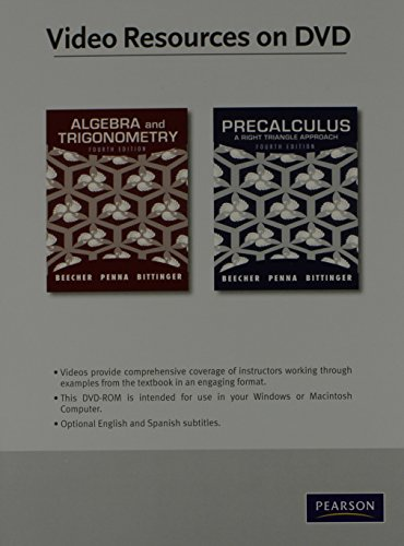 Download Video Lectures on DVD with Optional Subtitles for Algebra and Trigonometry/Precalculus: A Right Triangle Approach 0321725654