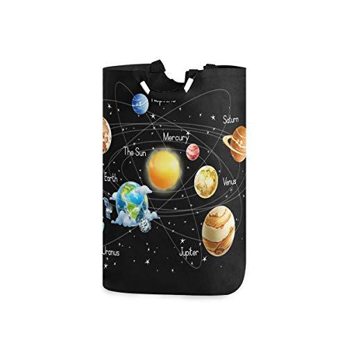 DOSHINE Wäschekorb, Universum Galaxie Weltraum Solarsystem, groß, Wäschesammler, faltbar, Einkaufstasche, Schmutzwäsche Tasche, Aufbewahrungskorb